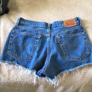 High rise Levi Strauss Jean shorts